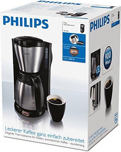 Philips HD7546/20 Gaia Filter-Kaffeemaschine mit Thermoskanne, schwarz/metall