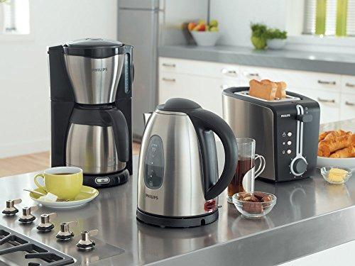 philips hd7546 20 gaia filter kaffeemaschine mit thermoskanne schwarz metall. Black Bedroom Furniture Sets. Home Design Ideas