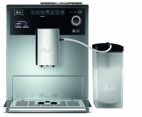 Melitta E 970-101 silber Kaffeevollautomat Caffeo CI (One-Touch-Funktion, LCD-Display, Milchbehälter,  Cappuccinatore)