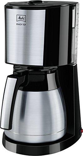 Melitta, Filterkaffeemaschine mit Edelstahl-Thermkanne, Patentierter Aromaselector, ENJOY Top Therm, Schwarz, 1017-08