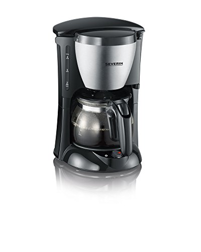 Severin KA 4805 Kaffeeautomat (650 Watt, 0,46 L, Automatische Abschaltung) Edelstahl gebürstet/schwarz