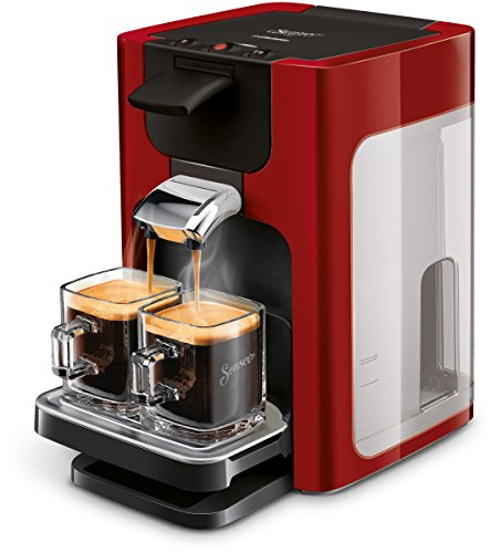 Philips Senseo Quadrante HD7865/80 Kaffeepadmaschine (XL-Wassertank) rot