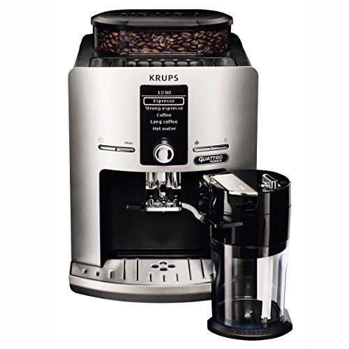 Krups Latt'Espress Quattro Force EA82FE Kaffeevollautomat (1450 Watt, 1,7 Liter, One-Touch Funktion, Milchbehälter, 15 bar) silber
