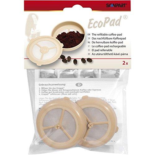 Ecopad – Das nachfüllbare Kaffeepad, 2er Set für Senseo Maschinen