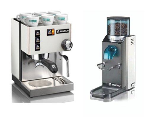 Rancilio Silvia Espressomaschine + Kaffeemühle Rocky S