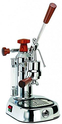 La Pavoni Espressomaschine europic Co Lusso chrom Holz Griffe ELH